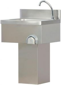 LC50 Stainless steel wash basin column with pedal control knee