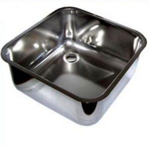 LV45/45/30 cuve de lavage inox à souder dim. 450x450x300h