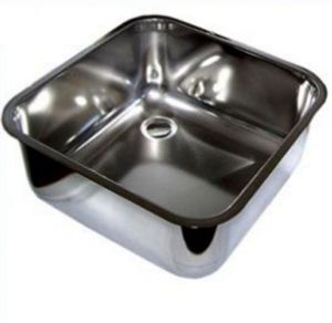 LV50/50/25 stainless steel wash sink dim. 500x500x250h