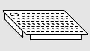 EU91101-05 Falsofondo in acciaio inox forato a destra dim. cm 50x50 per vasche