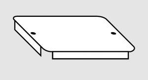 EU91010-06 Coperchio per vasca in acciaio inox dim. 50x50