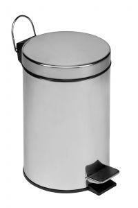 T101030 Polished Stainless Steel Pedal Bin 3 liters (Pack of 3 pieces)