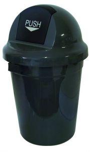 T102010 Gettacarte Push plastica grigio 110 litri (confezione da 3 pezzi)