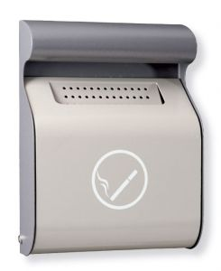 T103012 Grey steel wall mounted ashtray 3 liters