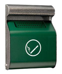 T103013 Cenicero de pared acero verde/silver da exterior 3 litros
