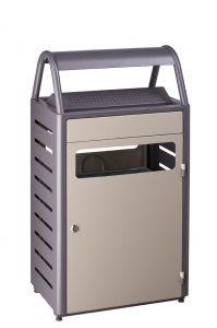 T103015 Gettacarte con posacenere grigio 50+8 per esterni