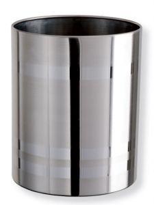 T103035 Corbeille à papier acier inox brillant 11 litres
