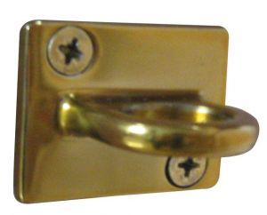 T103311 Anello inox dorato per fissaggio murale sistema divisorio