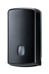 T104256 Distributeur de papier hygiénique plié ou en rouleau 500 feuilles ABS noir