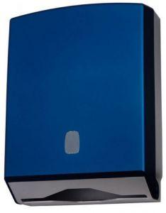 T104326 Distributeur de papier essuie-mains doux en ABS bleu 500 feuilles