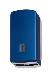 T104356 Interfold or roll toilet tissue dispenser abs blue soft touch
