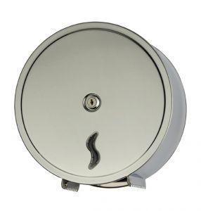 T105002 Distributore di carta igienica acciaio Inox AISI 304 brillante 200 metri