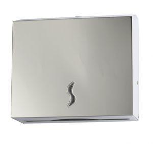 T105010 Distributore di carta asciugamani acciaio inox AISI 430 satinato 200 fogli