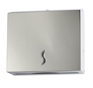 T105011 AISI 430 polished s. steel Paper towel dispenser 200 sheets