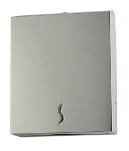 T105014 AISI 430 brushed s. steel Paper towel dispenser 400 sheets