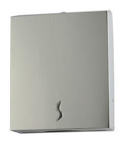 T105016 distributeur de serviettes en papier en acier inoxydable AISI 430 brossé 400 feuilles
