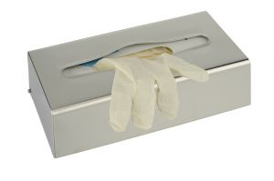 T105054 Polished Stainless steel Tissue and gloves holder dispenser