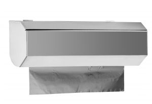 T105400 MINI dispenser for foil and cling film roll in AISI 304 polished stainless steel