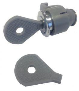 T105980 Cerradura de plástico para dispensador de papel higiénico  y toallas