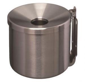 T106003 Cenicero de pared en acero inox satinado 2 litros