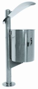 T106061 Stainless steel litter bin for outdoor areas 30 liters