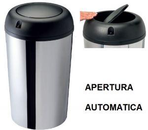 T109550 Papelera apertura automatica tapa basculante sensor termico 50 litros