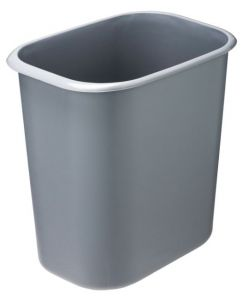 T114022 Papelera rectangular ignifuga polipropileno gris 14 litros