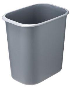 T114022 Rectangular grey Fire-retardant plastic paper bin 14 liters