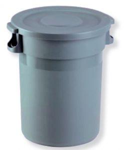 T114100 Contenitore Gettacarte in plastica con coperchio 80 litri