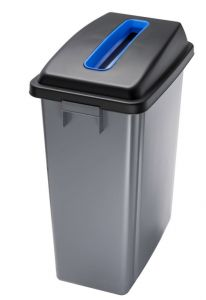 T114205 Conteneur recyclage Couvercle avec fente haut bleue