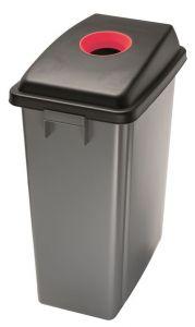 T114207 Conteneur recyclage Couvercle avec fente haut rouge