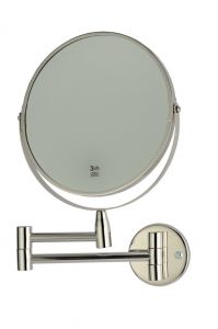 T130110 Specchio ingranditore con lente 3x acciaio inox AISI 304 brillante