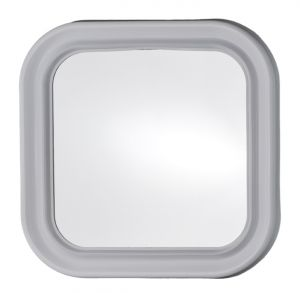 T150000 Squared mirror with white frame 46x46cm