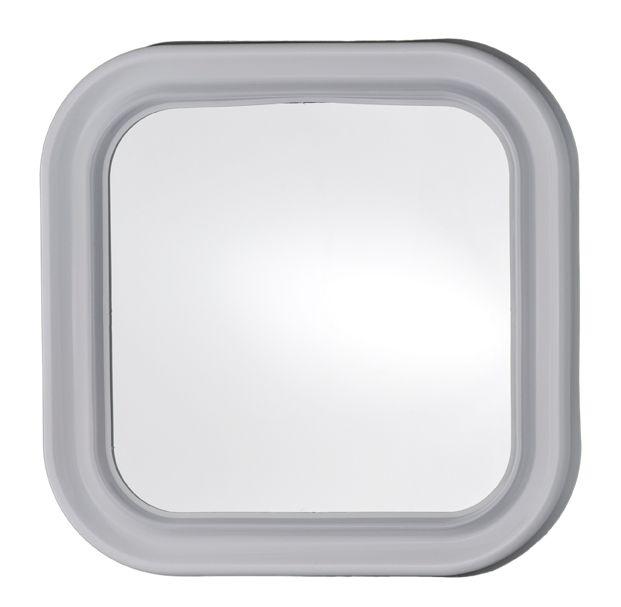 Specchio Bagno Plastica.T150000 Specchio In Vetro Quadrato Con Cornice Abs Bianca 46x46cm
