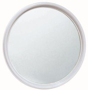 T150005 Round mirror with white frame diameter 50 cm