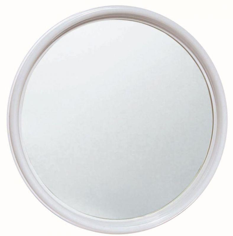 Specchio rotondo in plastica diametro cm 50 - Specchio cornice bianca ...