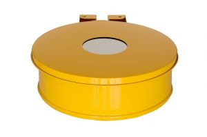T601014 Bag holder with lid YELLOW
