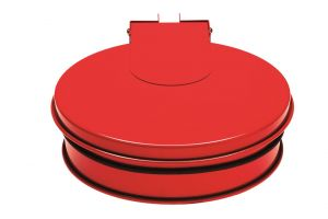 T601015  Bag holder with lid RED