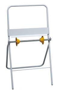 T700030 Porte-rouleaux de papier industrielle sur pieds metal blanc