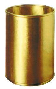 T700059 Papelera cilíndrica en latón 13 litros