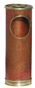 T700101 Cendrier-corbeille cuivre avec des bords en laiton 16 litres