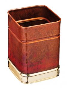 T700108 Squared Paper bin Luxary Burned Bronze 13 liters