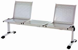 T703051 Banco de 2 plazas con mesa central acero