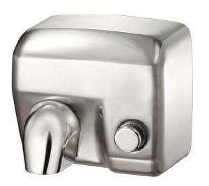 T704177 Asciugamani elettrico a pulsante acciaio inox AISI 304 satinato