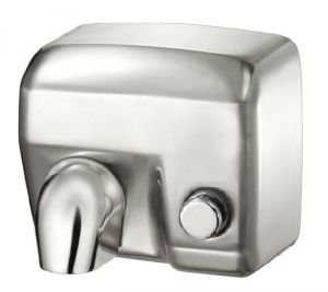 T704177 Push button Brushed stainless steel AISI 304 hand dryer