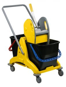 T705001 Double bucket mop trolley with wringer 50 lt