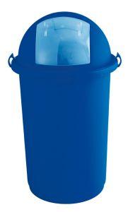 T710007 Gettacarte Push plastica blu 50 litri