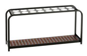 T714029 Paraguero de metal negro para 16 paraguas