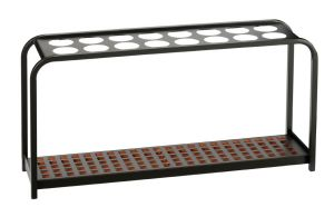 T714029 Porte-parapluies multi positions metal noir 16 positions