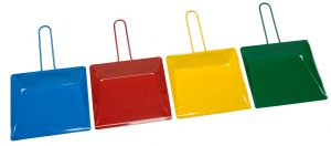 T718225 Coated steel dustpan (Pack of 12 pieces)